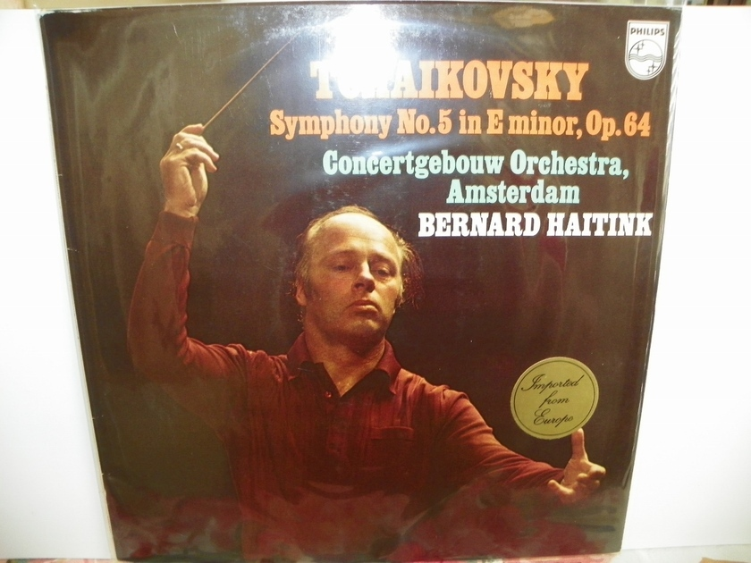 BERNARD HAITTINK - TCHAIKOVSKY SYMPHONY NO.5 Europe Import