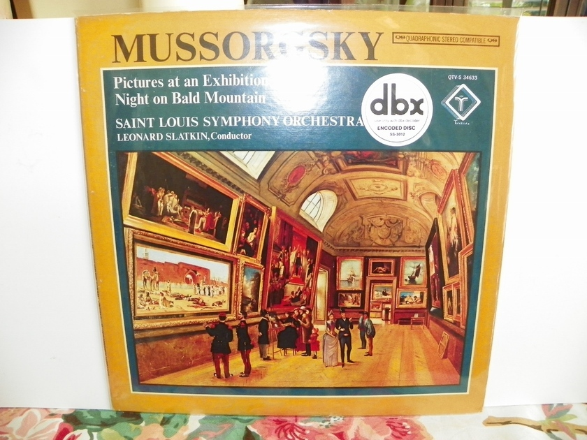 LEONARD SLATKIN  - MUSSORGSKY-PICTURES AT AN EXHIBITION dbx ENCODED-Quadraphonic NM/Price Reduction