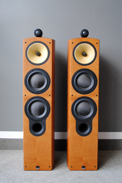 B&W Bowers & Wilkins 804S Loudspeakers in Cherry